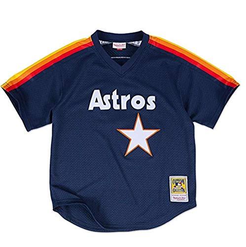 Mitchell & Ness Craig Biggio Houston Astros #7 Men's 1991 Authentic Mesh Batting Practice Jersey (XXXX-Large)