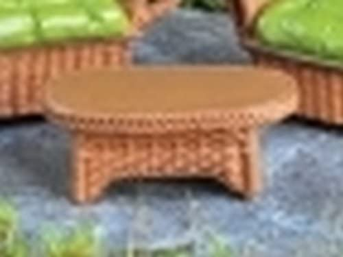 Mobilier de jardin en osier miniature pour effet jardin de ...