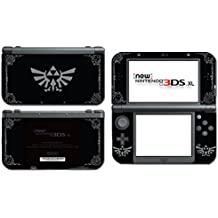Legend of Zelda Majora's Mask Special Edition Midnight Black Grey Link Triforce Hyrule Breath of the Wild BOTW Video Game Vinyl Skin Cover for the New Nintendo 3DS XL System Console