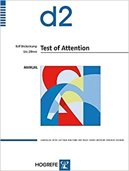 Book The d2 Test of Attention by Rolf Brickenkamp (1999-02-01)
