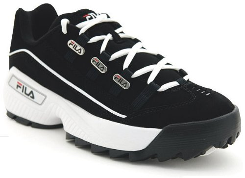Leather Blk Wht Mens Sneakers - 5