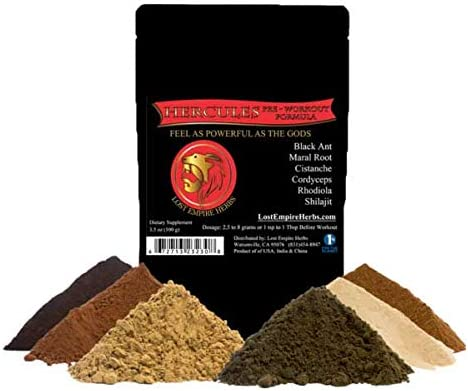 Lost Empire Herb s Pre Workout Herbal Supplement Powder 100g Premium Grade 100 Pure Proprietary Blend of Ancient Chinese Herbs Combine to Synergistically Boost Performance