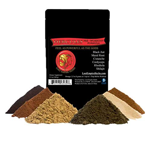 (Pre Workout Herbal Supplement - 100% All Natural - Powder (100g) - Premium Grade - Proprietary Blend of Ancient Chinese Herbs)