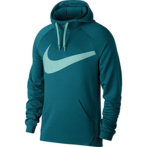 NIKE Men's Dry Training Hoodie Blustery/Light Aqua Size X-Large (Terry Pullover Nike)