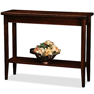 Leick Laurent Hall Console Table - Durable solid hardwood construction designed for everyday use Hand applied multi-step Chocolate Cherry finish Compact design perfect for apartments, condos and small living spaces - living-room-furniture, living-room, console-tables - 41Qvn0FE5IL. SS400  -