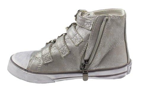 Amiana 15-a5172 Sneakers Alte Argento Nebbia Metallizzata