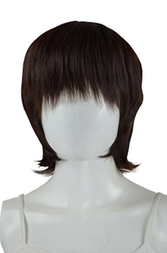 Epic Cosplay Neat Trimmed Dark Brown Cosplay Wig 12 Inches (01DB)