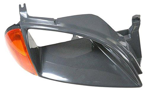 Black Headlight Trim Bezel w/Side Marker Right Light Passenger Side for Metro