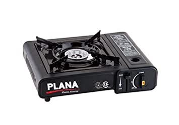 PLANA Butane 1 Burner Stove 7K BTU, Portable Gas Stove with Carrying Case