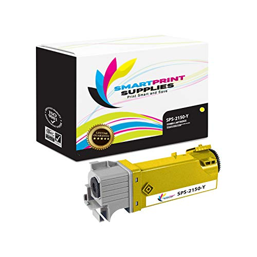 Smart Print Supplies Compatible 331-0718 Yellow Toner Cartridge Replacement for Dell 2150CN 2150CDN 2155CN 2155CDN Printers (2,500 Pages) ()
