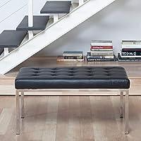 Studio Designs 72010 Bonded Leather Lintel 35 Bench, Black