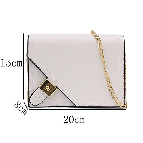 Bolso De Hombro Para Mujer CHFUD Crossbody Leather Fashion Mini White