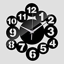 ptk12 Wall Clocks - New Acrylic Mirror Sticker Clock Clocks Watch Wall Home Decoration reloj de pared horloge Quartz Living Room 1 PCs