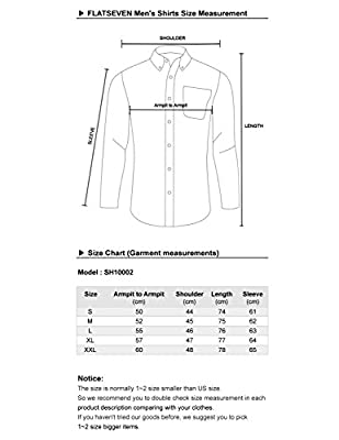 FLATSEVEN Mens Slim Fit Stylish Tailored Dress Shirts