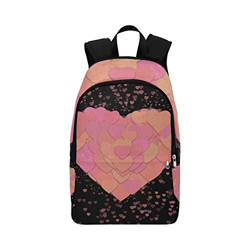 XINGCHENSS Heart Valentines Day Love Affection Together Casual Daypack Travel Bag College School Backpack Mens Women
