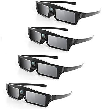 QIA 4PCS DLP Link 3D Gafas, de Carga USB Proyector Dedicado ...
