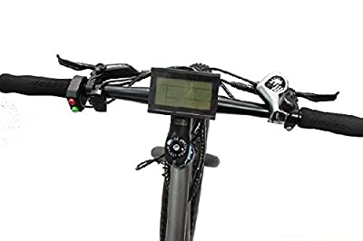 48V 500W 12 -Speed Transmission Electric Mountain Bicycle with Cell 48V 12AH Down Tube Style Li-ion Battery,26 inch Tire, Mechanical Disc Brakes , Aluminum Trailers, LED Display (Black)