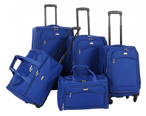 American Flyer Luggage South West Collection 5 Piece Spinner Set, Cobalt Blue, One Size by American Flyer