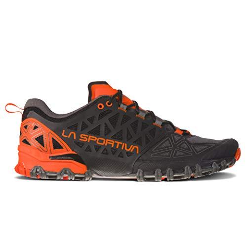 La Sportiva Bushido II Running Shoe, Carbon/Tangerine, 43.5