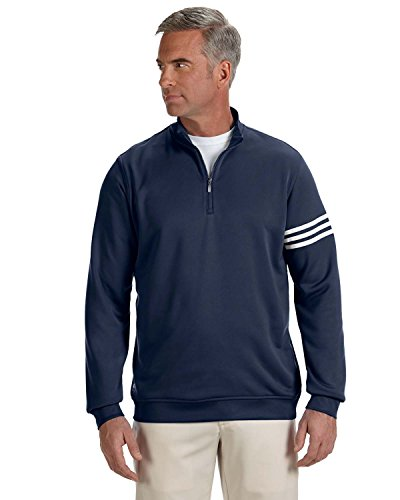 adidas A190 Mens ClimaLite 3-Stripes Pullover - Navy & White, 2XL