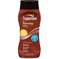 Coppertone Tanning Lotion Sunscreen SPF 15, 8oz