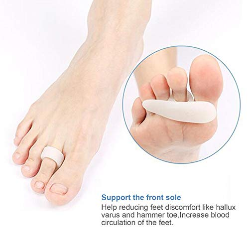 Toe separators - Single Hole Hallux Valgus Foot Pain Relief Professional Silicon Toe Separator Toe Pad Cramp Hammer Toe Orthotics Toe Separator from Nail's world