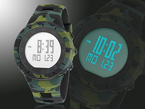 New Camouflage Cool Outdoor Sport Children's Watch Led Light Comfortable Rubber Band Multifunctional Trendy Hot Rugged by autulet (Image #1)