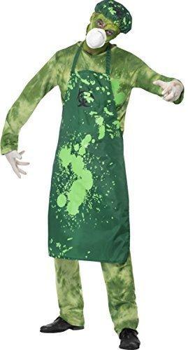 Mens Zombie Biohazard Toxic Poisonous Green Halloween Fancy Dress Costume Outfit (Medium)]()