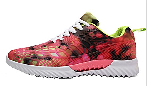Couple Respirabile Mesh Rosso Casual Camouflage Scarpe Fitness Shoes Walking Sportive Newzcers Fashion Unisex 0qxT8w7xtE