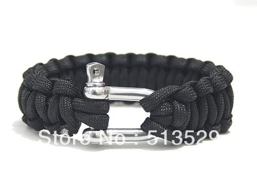 Camping Bracelet | Handmade Whistle Buckle |With Steel Buckle