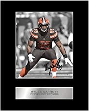 Myles Garrett Print Signed Mounted Photo Display #05 Printed Autograph Picture Print