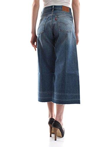 Jupe Culotte En Jean Levi's Wide Leg Bleu Vintage Femme