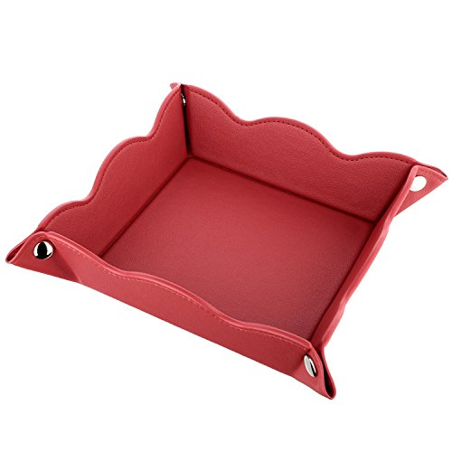 valet-tray-cosmetics-jewelry-organizer-tray-lisrsc-multifunctional-leather-storage-traybright-red