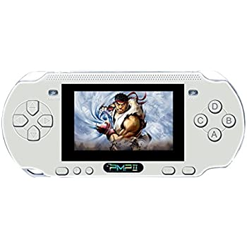 Handheld Game Console , Anbernic Premium Retro Gema Console 3 Inch  PMP II Game Player Classic Game Console , Presents for Children - White