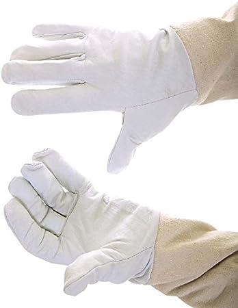 Buzz Gants de cuir de v/êtements de travail Blanc doux artisanale R/écolt/ée 2XS blanc