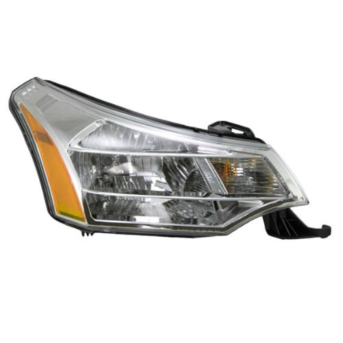 Koolzap For 08-11 Focus Headlight Headlamp Chrome Bezel Head Light Lamp Right Passenger Side