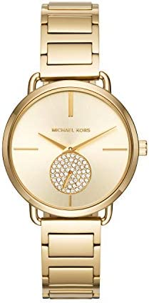 Michael Kors Women s Portia Watch- Three Hand Quartz Movement Wrist Watch with Second Hand subdial