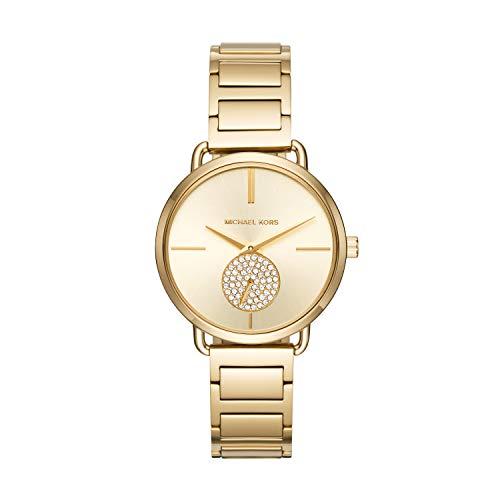 Michael Kors Women's Portia Gold-Tone Watch MK3639 (Rhinestone Watch Kors Michael)