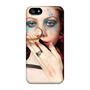 High Grade OrangeColor Flexible Tpu Case For Iphone 5/5s - Michelle Trachtenberg Make Up