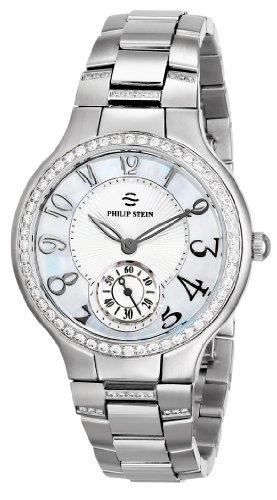 Philip Stein Women's 41D-FMOP-SSD Stainless Steel Watch with Triple-Link Bracelet
