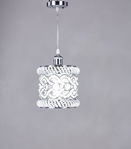 Broadway Silver Classic Crystal Chandeliers Modern Lamps Pendant Light Ceiling Fixture BL-AHF/D-L1 W8 X H10 Inch