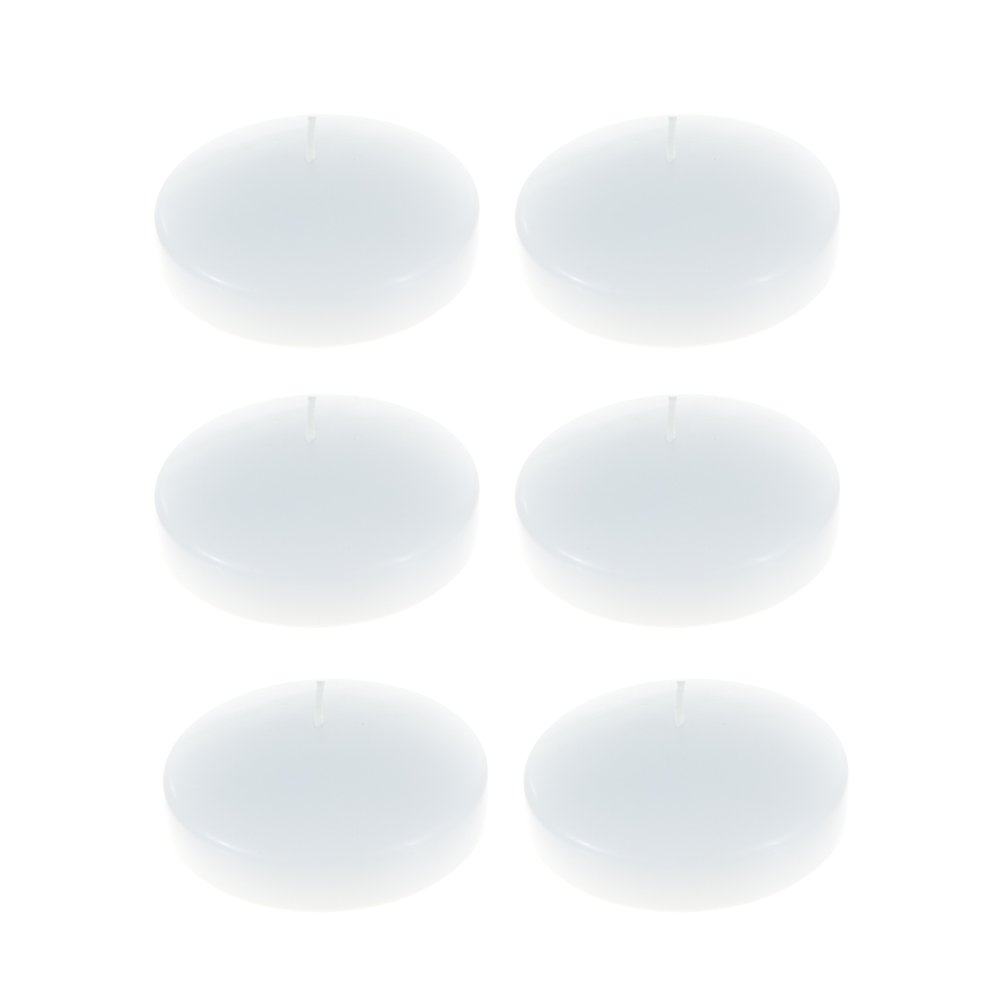 Mega Candles Pack of 72 Unscented 3'' Floating Disc Candle, White by Mega Candles (Image #1)