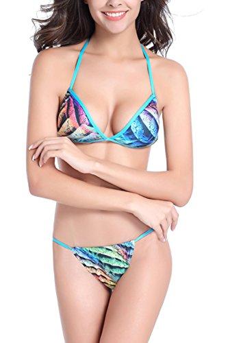 Halter Bikini Tankini Floral conjunto Yacun mujer