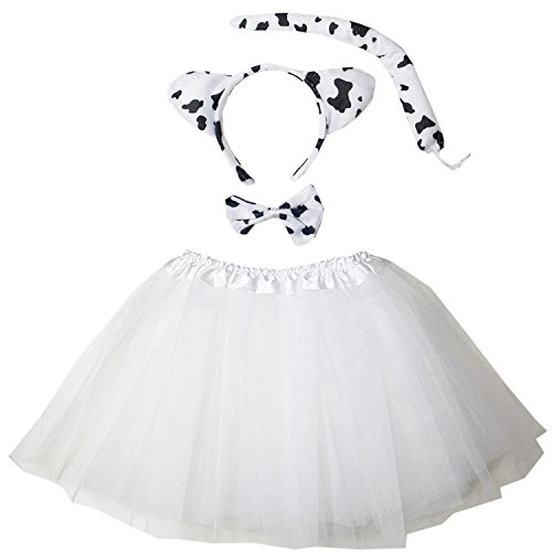Kirei Sui Kids Costume Tutu Set White Cow