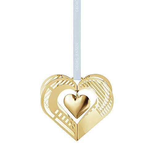 Georg Jensen 2019 Christmas Mobile, Heart - Gold Plated by Georg Jensen