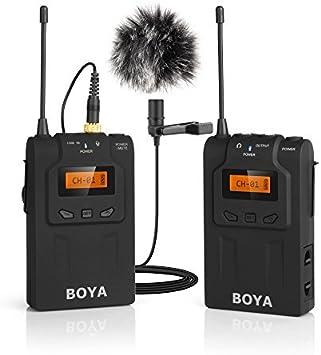 Amazon Com Boya Wm6 Uhf Inalambrico Lavalier Microfono De Solapa