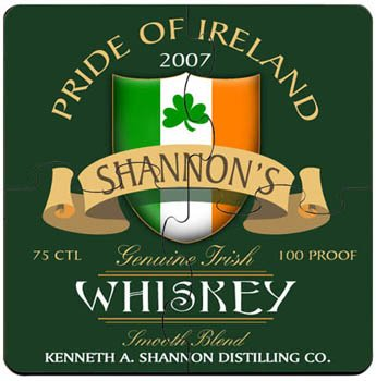 Personalized Coaster Puzzle Set - Irish Whiskey Coaster Puzzle Set -