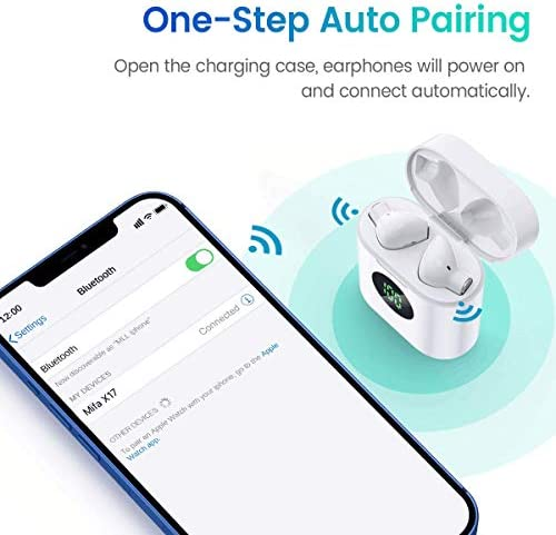MIFA True Wireless Earbuds, TWS Bluetooth Headphones Stereo Sound Earphones, 30H Playtime Wireless Charging Case & Power Display, Sweat Proof Dual Bluetooth 5.0 Headset with Built-in Mic for Sports…