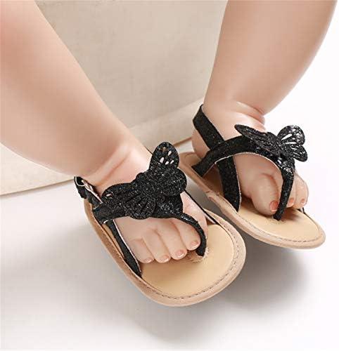 41QvwO4UYVL. AC - COSANKIM Infant Baby Girls Summer Sandals With Flower Soft Sole Newborn Toddler First Walker Crib Dress Shoes