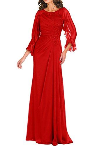 4 Graziosa 3 Rosso Sera Angelo Sposa Vestito Da Della Madre A Con Sposa Maniche Del 47x1OTqn1